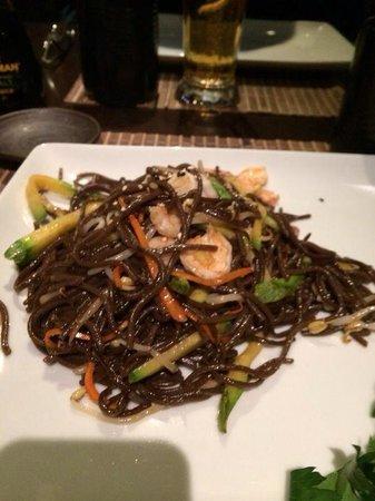 Takashi : Spaghetti con verdure e gamberi