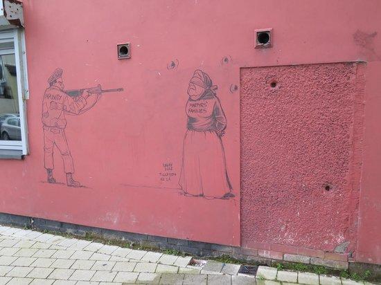 Bogside History Tours: Bullet holes at Glenfada Park