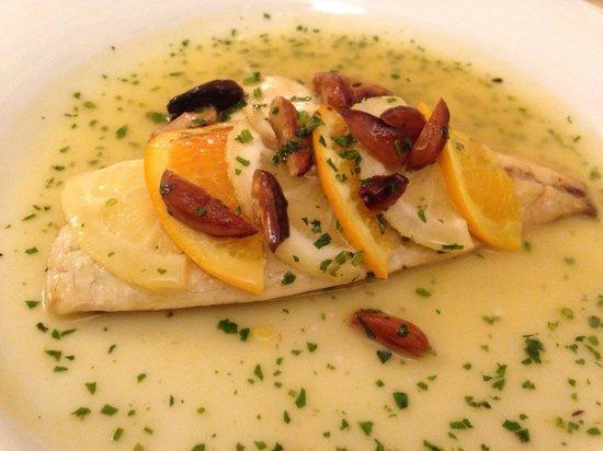 Ristorante Buca di Bacco: Filetto di pesce agli agrumi