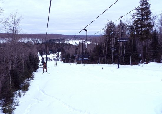 Ski Brule: a view going up from Homestead