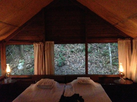 The Lodge at Chaa Creek: Inside the tent cabin