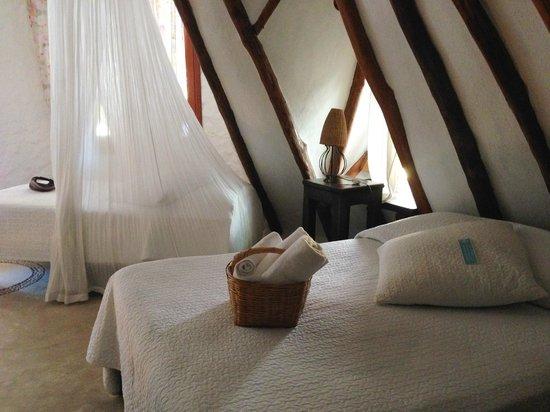 Holbox Hotel Casa las Tortugas - Petit Beach Hotel & Spa : Beach Bungalow-Colibri, upstairs.