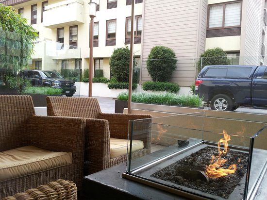 Sheraton Fisherman's Wharf Hotel: View from a Fire Pit Lounge