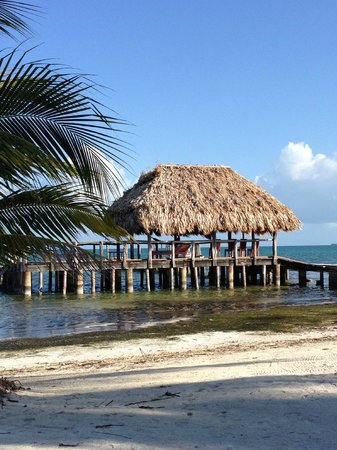 St. George's Caye Resort: The boat dock on the breezy side of the island