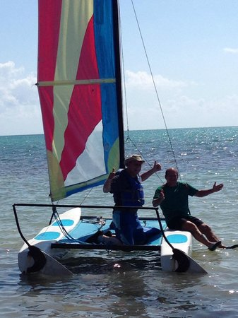 St. George's Caye Resort: Hobie Cats available to use.  They will send a staff member with you if you don't know how to sa