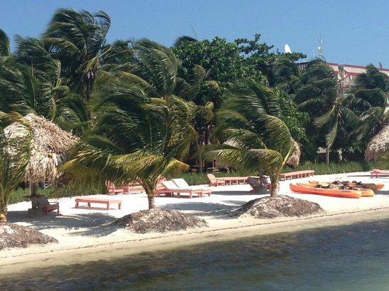 St. George's Caye Resort: The beach in front of the resort