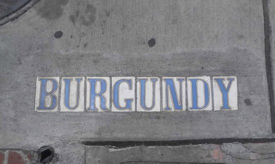 The Burgundy Bar: Sidewalk Tiles