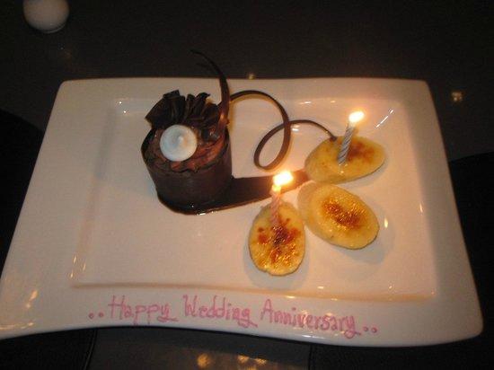 Wedding anniversary dessert in phuket picture of thai travel