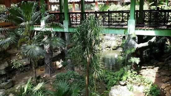 Iberostar Quetzal Playacar : Bridge to main Buffet