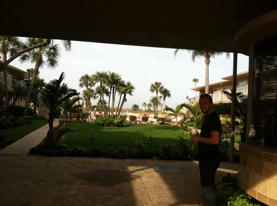 Treasure Island Ocean Club: View outside office