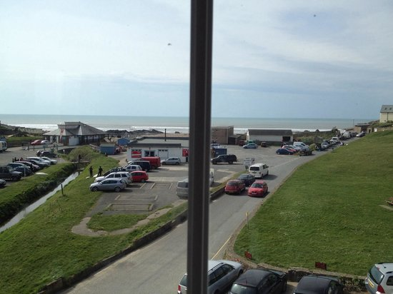 Crooklets Inn: View from my 10ft wide window overlooking the sea (and sunset) room 212 btw