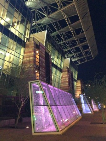 Phoenix Civic Plaza Convention Center: Phoenix Convention Center exterior at night-- gorgeous!