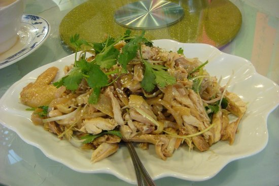 Hand shredded chicken salad with jelly fish picture of for Pittsburgh fish and chicken
