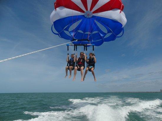 Marco Island Water Sports: Parasailing fun!!