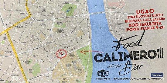 Map Of Novi Sad And Calimero Food Bar Picture Of Calimero Food - Novi sad map