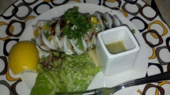 Villa del Palmar Cancun Beach Resort & Spa : Grilled calamari