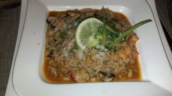 Villa del Palmar Cancun Beach Resort & Spa : Seafood over rice