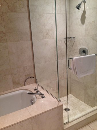 L'Hermitage Hotel: Shower in Petite Boutique Room