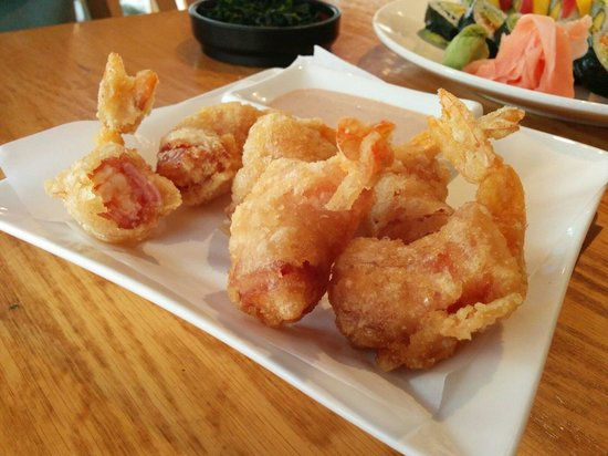 Rock Japanese Cuisine : Bacon- wrapped shrimp appetizer. Great dipping sauce