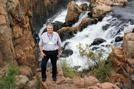 Blyde River Canyon Nature Reserve: Me at the falls
