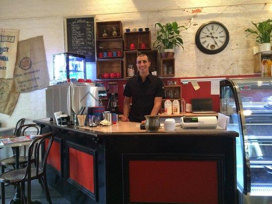 The Secret Garden Cafe: Italian 'single origin' Barista. Knows his stuff and in passionate about coffee.