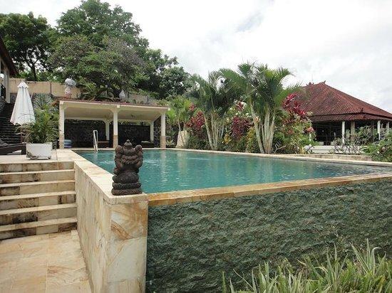 The Hamsa Resort: swimming pol 2 and pool house