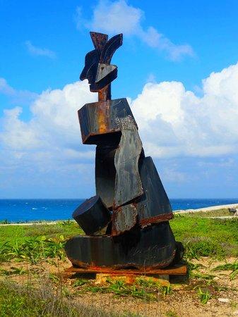 Metal Statue at Punta Sur