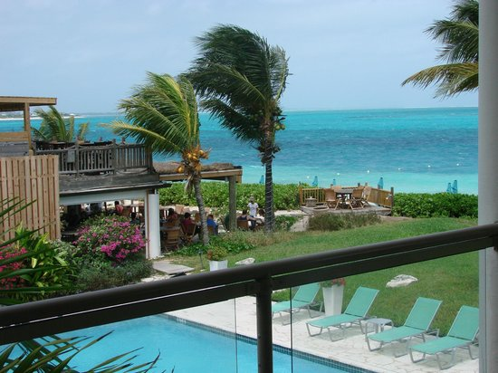 Coral Gardens on Grace Bay: View from our balcony of grounds and somewhere Cafe