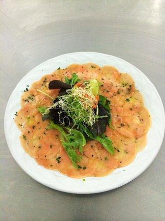 Restaurant Due Torri: Carpaccio di Salmone