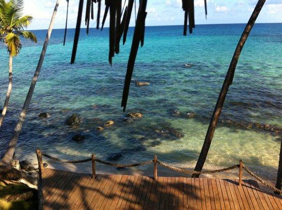 Yemaya Island Hideaway & Spa : View from our breakfast table