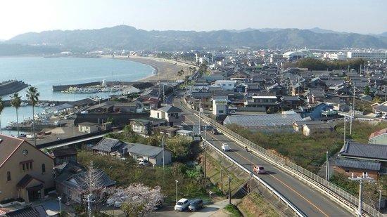 Bay Hotel Asahiro: 部屋からの景色。私は絶景…と思えなかった。