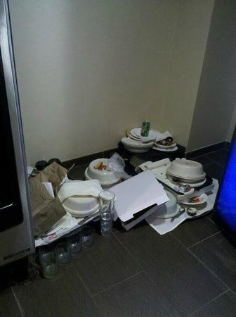 Embassy Suites by Hilton St. Louis Airport : Second day of dishes