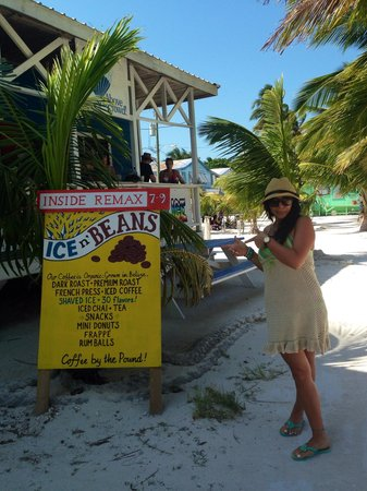Ice and Beans Coffee Shop : The best coffee and beignets in Cay Caulker!!!