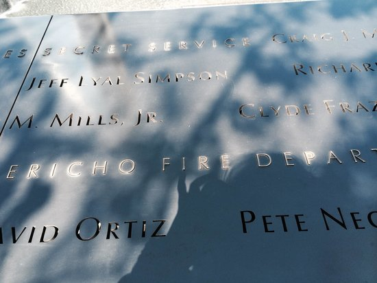 National September 11 Memorial und Museum: Names
