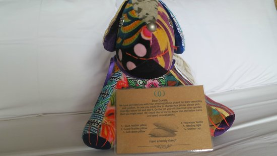 Mantra Samui Resort: This is the Mantra dog that was on our bed. You can purchase it but is sadly a bit too pricey..$
