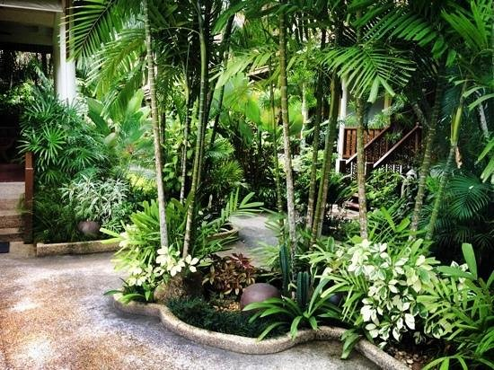 Bangtao Village Resort : garden on the resort entrance