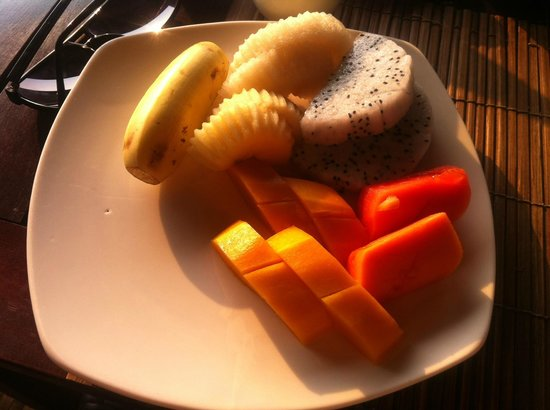 Siddharta Boutique Hotel: fresh fruit for bfast