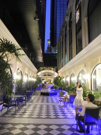 The Sukosol: beautiful alleyway separating the two wings of the hotel