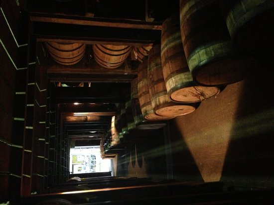 Woodford Reserve Distillery: can smell the angel's share