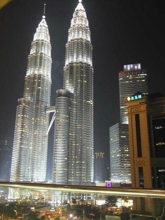 Hotel Maya Kuala Lumpur : Photo taken outside the bar at night.