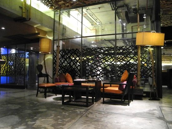 Siam@Siam Design Hotel Bangkok: the lobby of the day spa area is quite stylish
