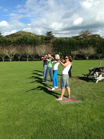 Wild on Waiheke: Laser claybird shooting!