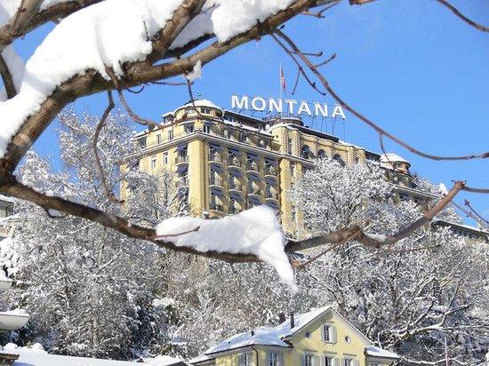 Art Deco Hotel Montana Luzern: ART DECO HOTEL MONTANA during winter