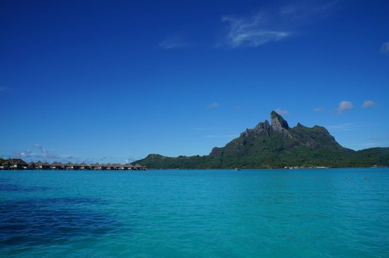 The St. Regis Bora Bora Resort: View from bungalow 229