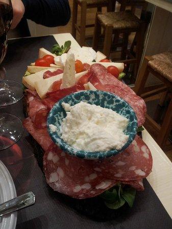 i Toscani: piatto salume e formaggio