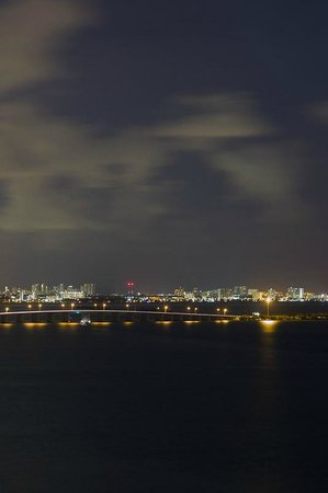 Miami Marriott Biscayne Bay : the view at night