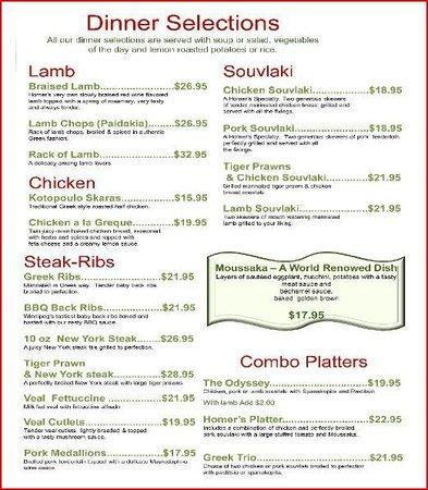 Homer's Restaurant: Entrees