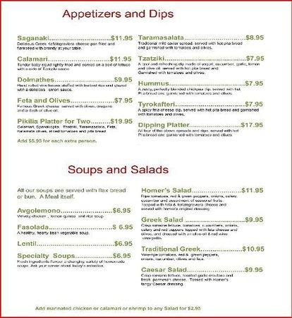 Homer's Restaurant: Apps & Sides