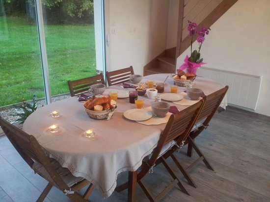 Les Chambres de Pascaline : La salle des petits déjeuner