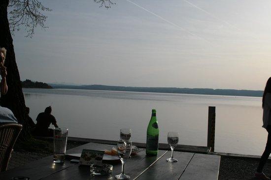 Hotel Promenade : Blick von unserem Tisch